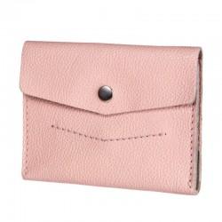 Раскладной розовый кожаный кошелёк