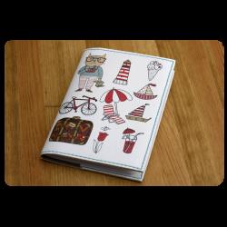 Обложка для паспорта Кот-путешественник + блокнотик