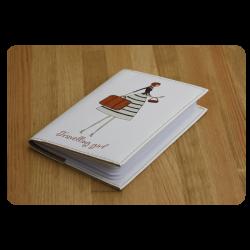 Обложка для паспорта Travelling girl + блокнотик