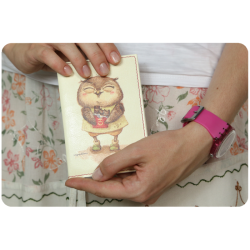 Обложка для паспорта Сладкоежки + блокнотик