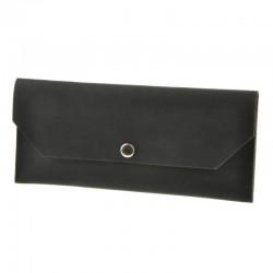 Клатч-конверт из кожи чёрный