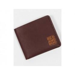 Кожаный кошелек eather ini Eco Brown Red and Dog