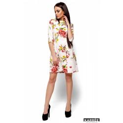 Платье в цветок белое