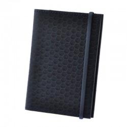 Обложка для паспорта 2.0 Карбон Ночное небо (кожа)