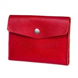 Маленький красный кожаный кошелёк