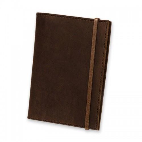 Обложка для паспорта 1.0 Орех (кожа) + блокнотик