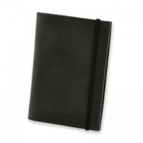 Обложка для паспорта 1.0 Графит (кожа) + блокнотик