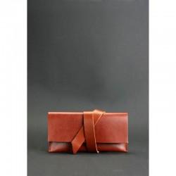 Чехол для смартфона кожаный рыжий