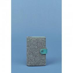 Обложка для паспорта 3.0 кожа + эко-фетр тиффани
