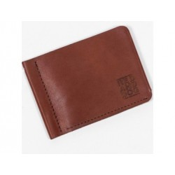 Кожаный кошелек Clip Brown Red and Dog