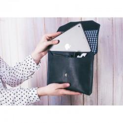 Ручной конверт для планшета 7-8 Синий сапфир (кожа)