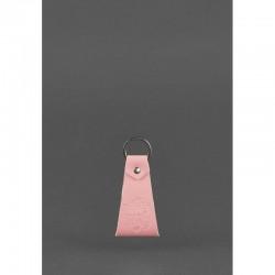 Брелок-петля кожаный розовый