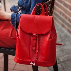 Кожаный рюкзак Олсен рубин