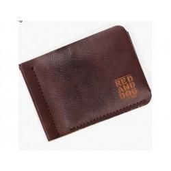 Кожаный кошелек Clip Eco Brown Red and Dog