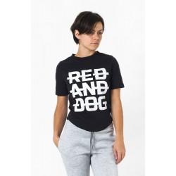 Женская футболка чёрная с принтом