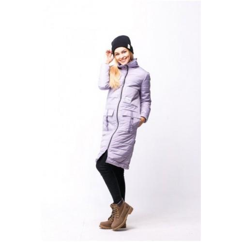 Длинная женская куртка на осень