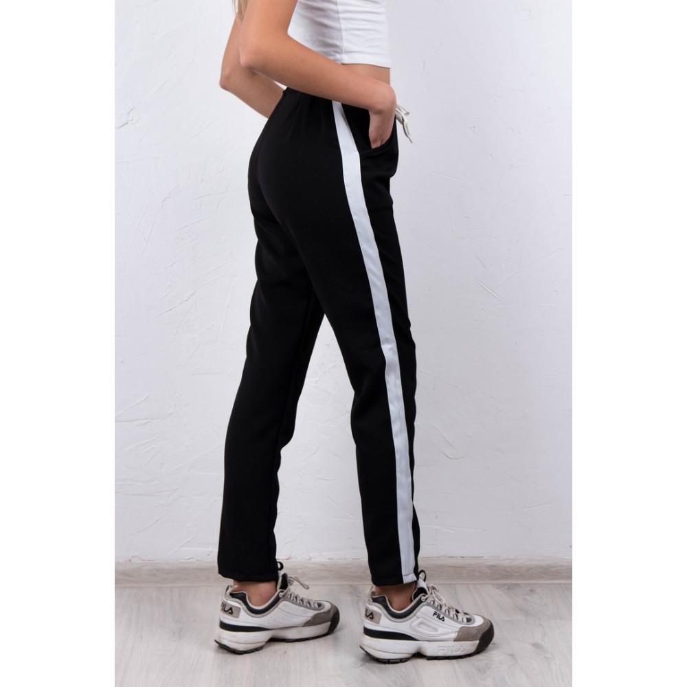 953898e67b0 Женские штаны с лампасами чёрные купить в Украине  Киев