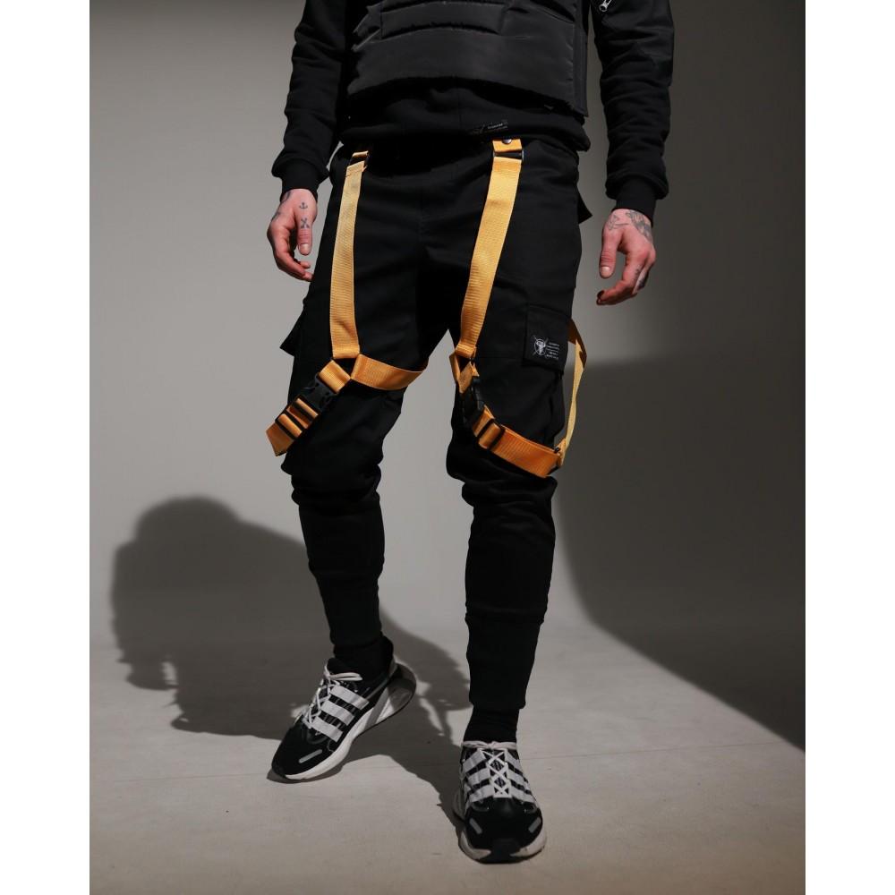 Мужские брюки карго с карманами по бокам