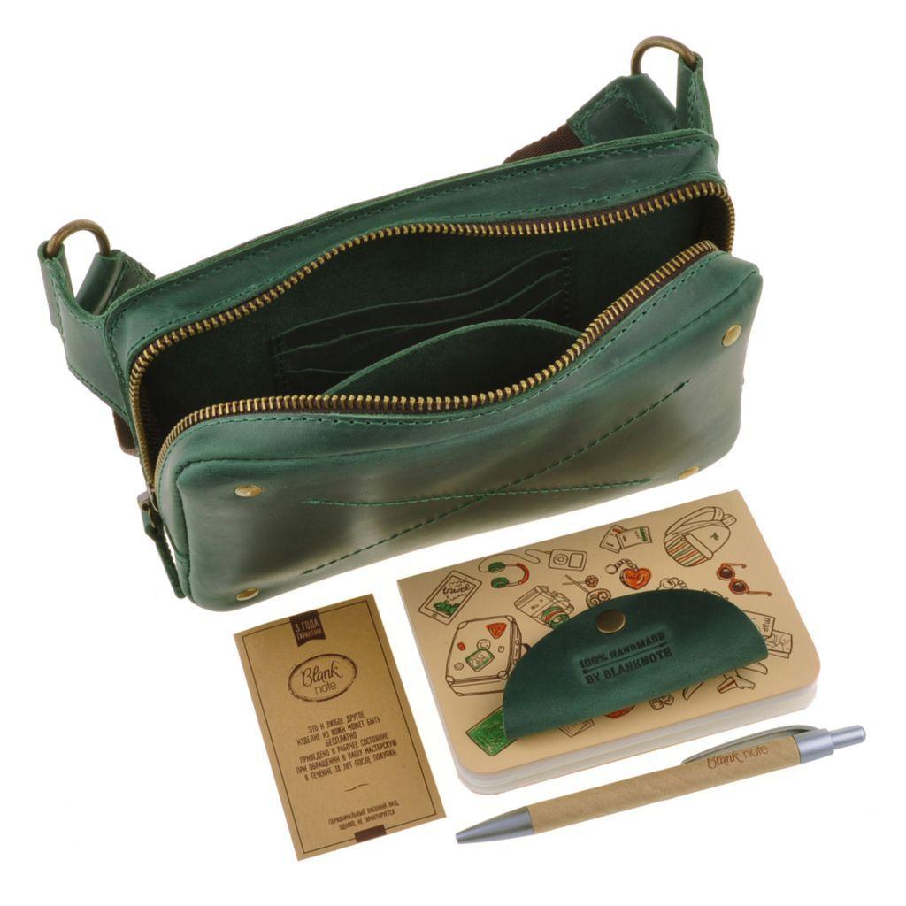 Кожаная женская поясная сумка