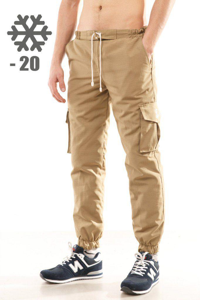 Зимние утепленные мужские брюки