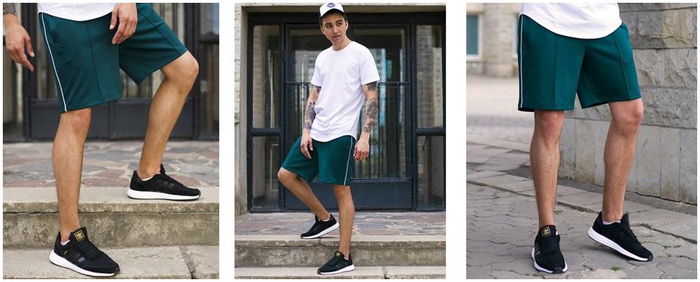 Мужские шорты с лампасами - фото 3